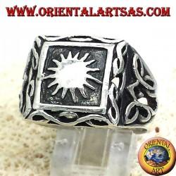 Anello in argento con il sole