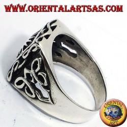 Anello in argento con sole