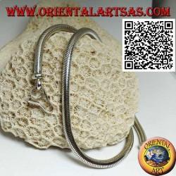 Collana in argento 700‰ a maglia snake, girocollo da 42 cm x 4,5 mm