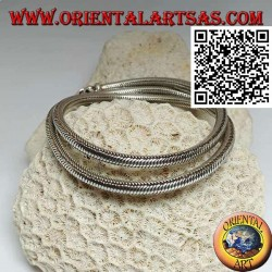 700 ‰ silver necklace with 49 cm x 4 mm snake link