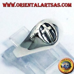 Ring seal silver cross