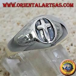 Ring seal silver cross