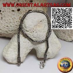 Borobudur (byzantinisches Glied) 925 ‰ Silberkette, 41,5 cm x 3 mm