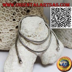 Collier à maillons serpent 52 cm x 2 mm en argent 925 ‰