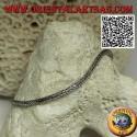 Silver Indonesian snake link bracelet with smooth hook 21.5cm x 2.5mm