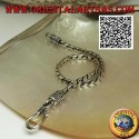Soft bracelet in silver round joint with serpentine hook 21.5 cm x 3 mm
