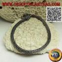 Silver Indonesian Snake Link Bracelet with 22.5cm x 4mm Serpentine Hook
