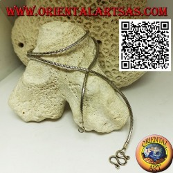 47.5 cm x 2 mm snake link necklace in 925 ‰ silver