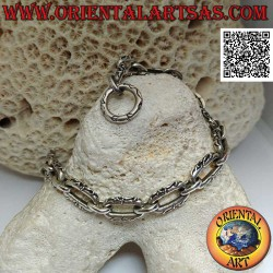 Silver chain bracelet with...