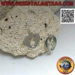 Silver pendant earrings in...