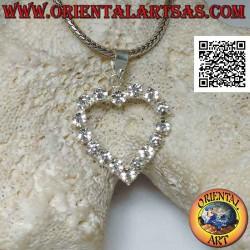 Silver pendant, heart of...