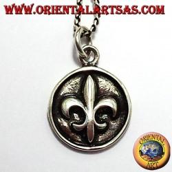Ciondolo Giglio (araldica) su medaglia in Argento