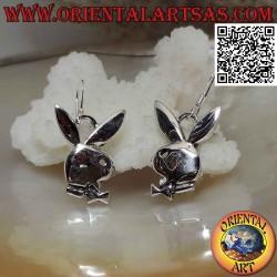 Silver pendant earrings,...