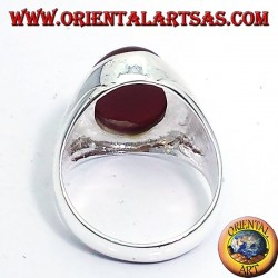 Silberring mit Karneol-Cabochon oval