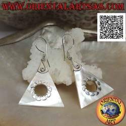Silver earrings with...