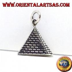 pirámide colgante de plata 925