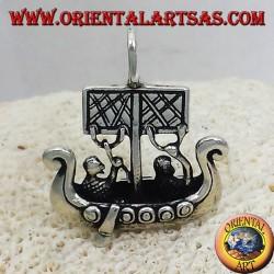 Anhänger Wikingerschiff -dimensional Libjars Silber