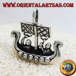Pendant Viking Ship dimensional Libjars silver