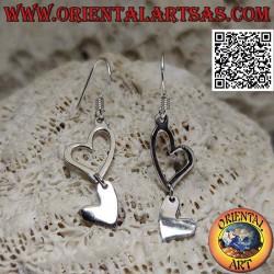 Silver leverback earrings...