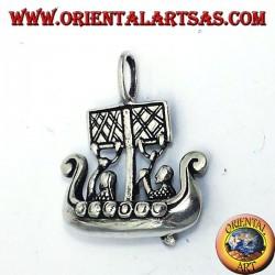 Colgante de plata de la nave de Viking Libjars dimensiones