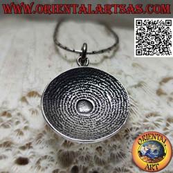 Silver pendant, the sundial...