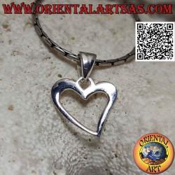Silver pendant, contour of...