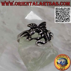 Silver ring with basilisk...