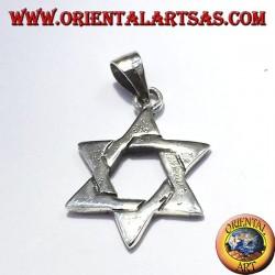 Estrella de David colgante en plata