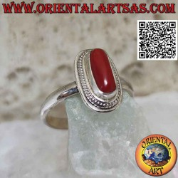 Silver ring with natural...