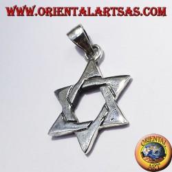 Davidstern -Anhänger aus Silber