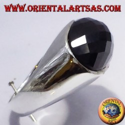 Silberring mit facettierten Onyx