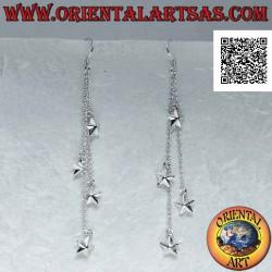 Серебряные серьги-рычаги с...
