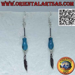 Silver and turquoise stick...