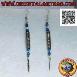 Silver tube earrings...