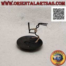 Round wrought iron incense...