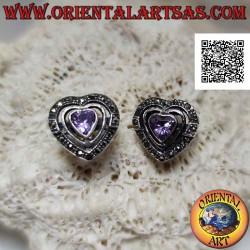 Heart-shaped lobe silver...