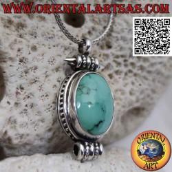 Ghau silver pendant with...