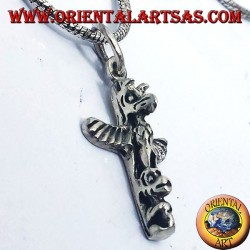 silver pendant (Indian totems of America)