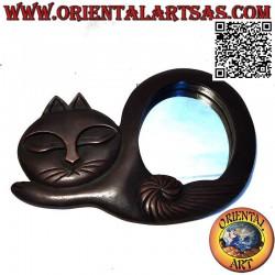 مرآة حائط ، قطة ملتوية...