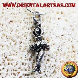 pendentif en argent danseuse de ballet