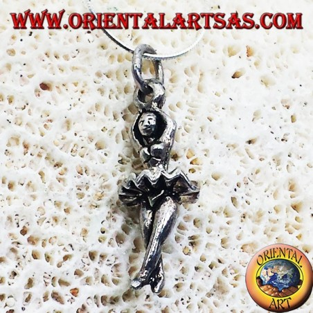 pendant silver ballet dancer