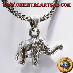 Silver pendant elephant (three-dimensional)