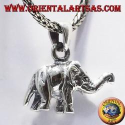 Ciondolo Elefante tridimensionale in argento