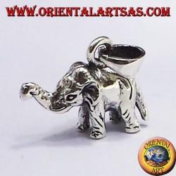 Silber Anhänger Elefant (dreidimensionale)