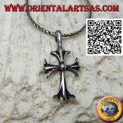 Silver pendant, Latin cross...