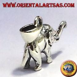 Silver pendant elephant (three-dimensional)