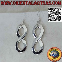 Silver earrings with a...
