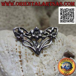925 ‰ silver brooch floral...