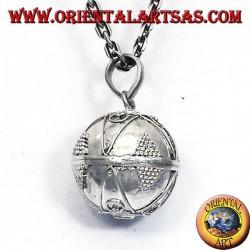 ciondolo chiama angeli in argento (richiamo degli angeli) diametro 16mm