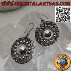Pendant earrings in silver,...
